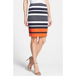 Michael Kors Striped Color Block Pencil Skirt